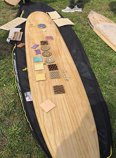 Wood coaster made of paulownia wood