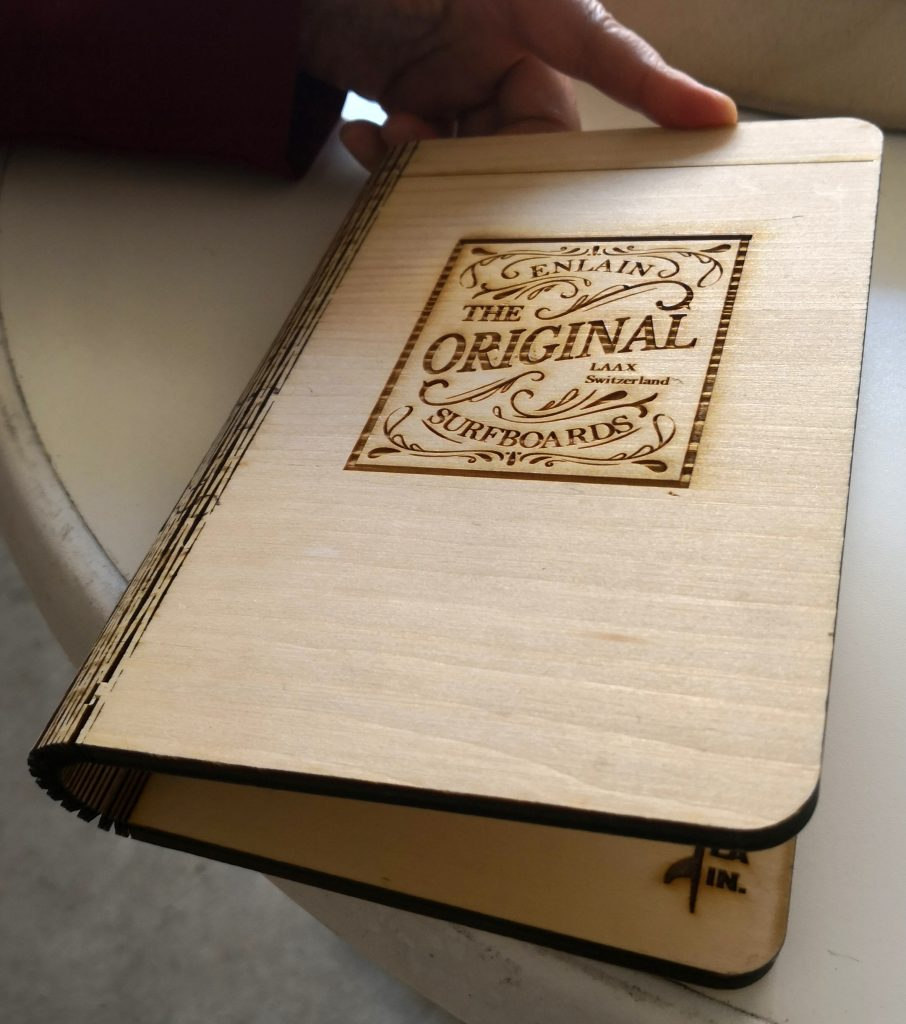 Book cover made of paulownia wood