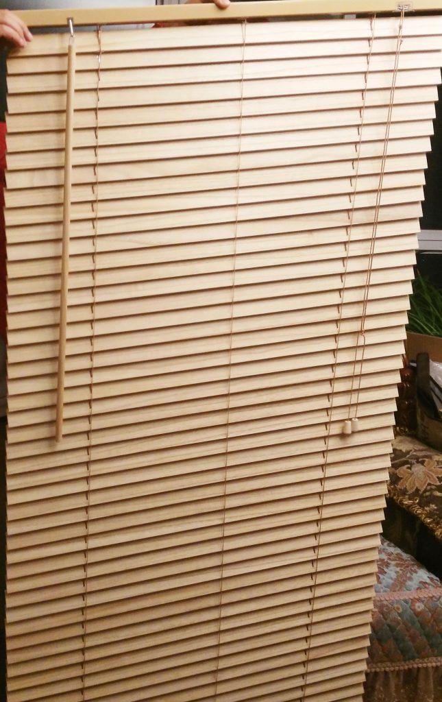 Shutters made of paulownia wood